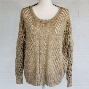 Neutral Autumn Sweater with Scoop Neck